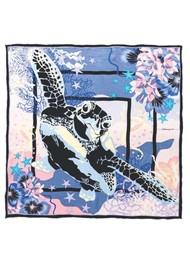 Becksondergaard Turtley Sia Silk Scarf - Blue