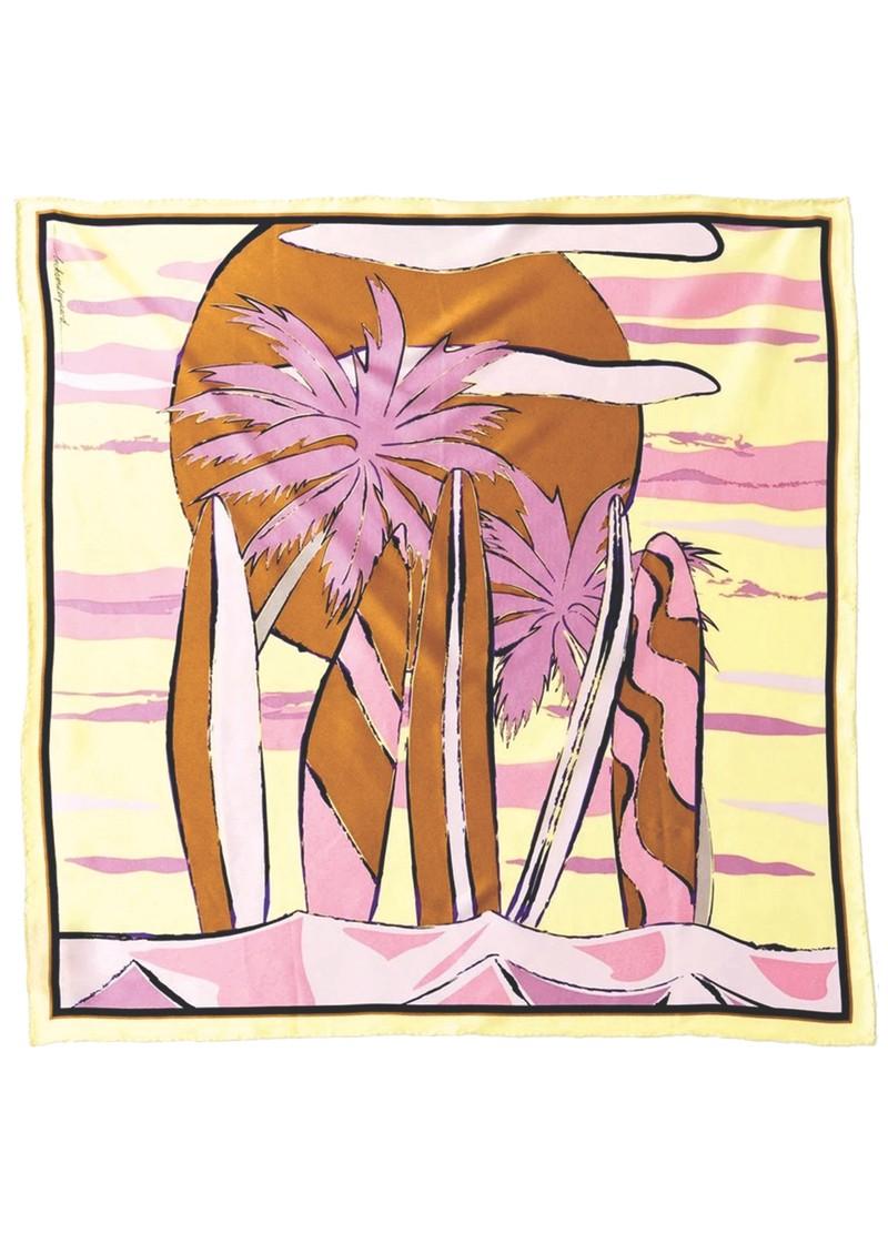 Becksondergaard Surf Sia Silk Scarf - Pink main image