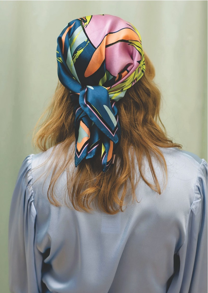 Surf Sia Silk Scarf - Blue main image