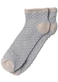 Becksondergaard Dollie Waffle Ankle Socks - Silver Grey