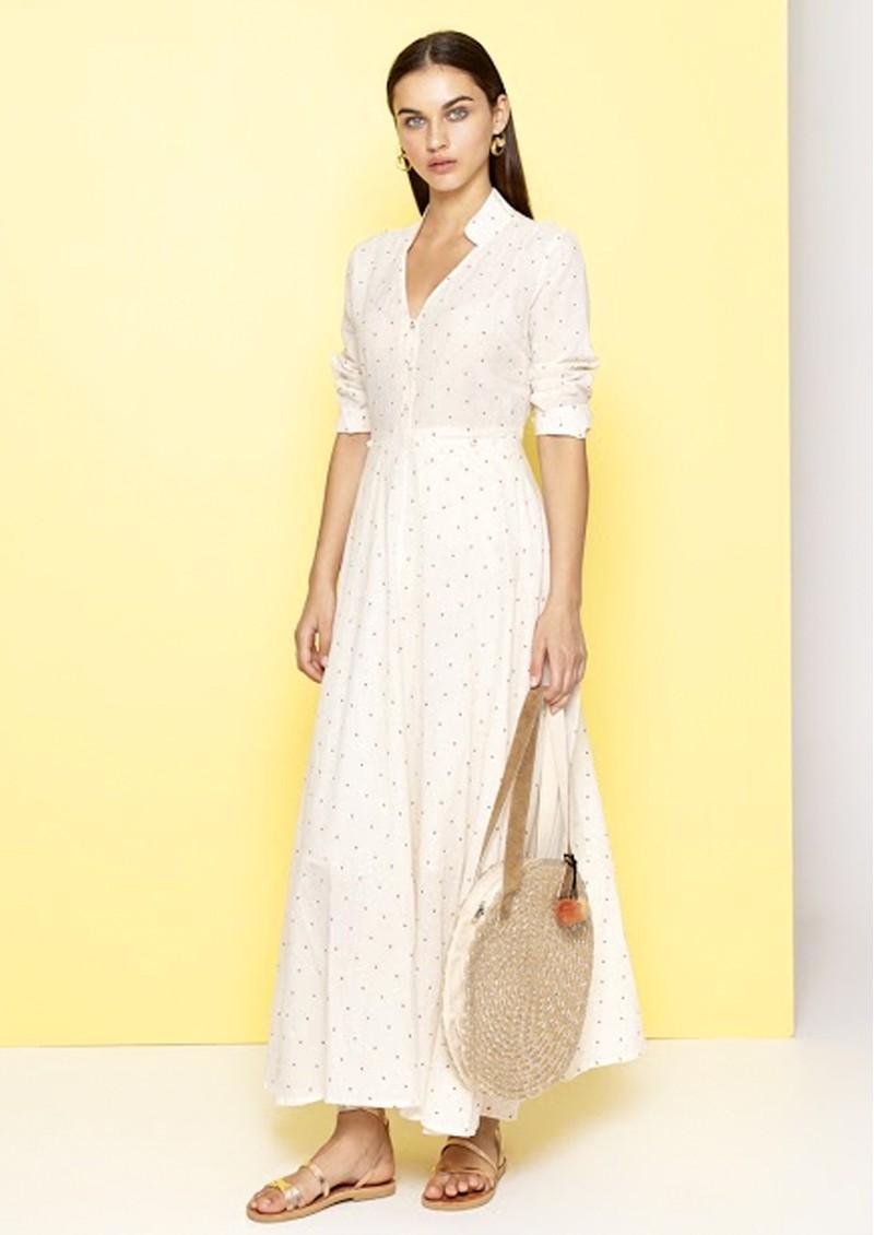DREAM Spot Dress - Cream & Red main image