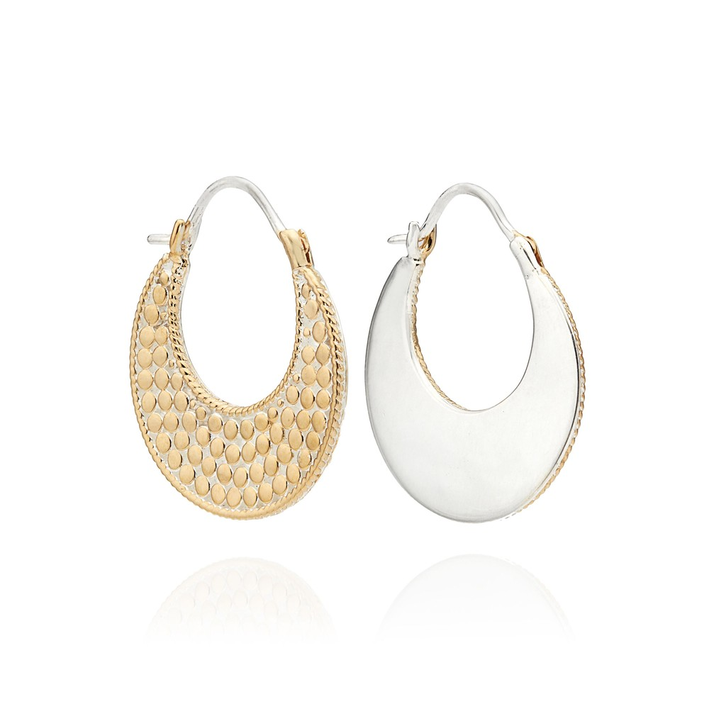 Signature Crescent Hoop Earrings - Gold & Silver