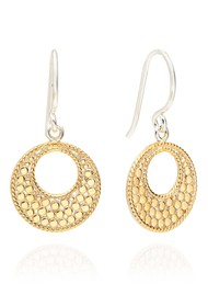 ANNA BECK Signature Small Open Circle Earrings - Gold & Silver