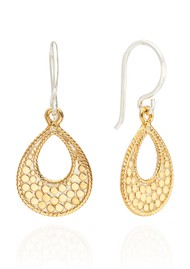 ANNA BECK Signature Small Open Drop Earrings - Gold & Silver