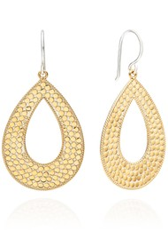 ANNA BECK Signature Large Open Drop Earrings - Gold & Silver