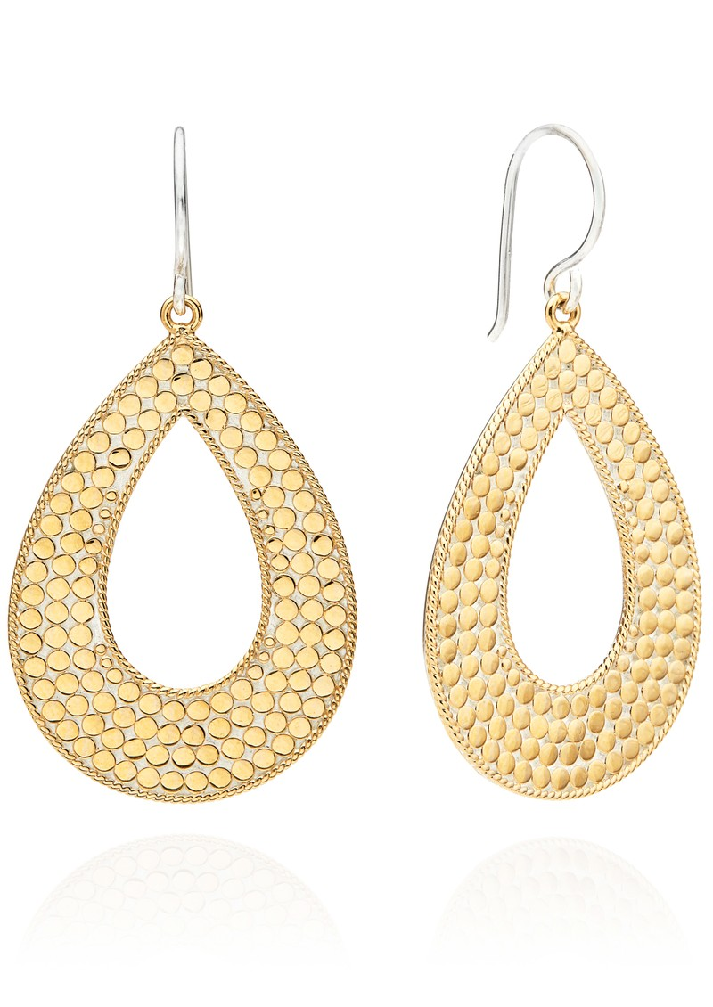 ANNA BECK Signature Large Open Drop Earrings - Gold & Silver main image