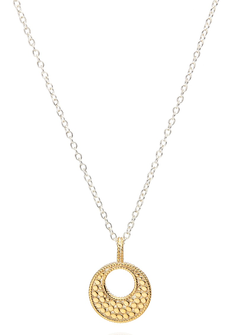 ANNA BECK Signature Reversible Small Open Circle Pendant Necklace - Gold & Silver main image