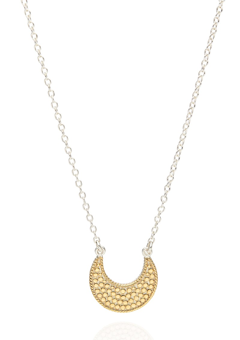 ANNA BECK Signature Reversible Crescent Necklace - Gold & Silver main image