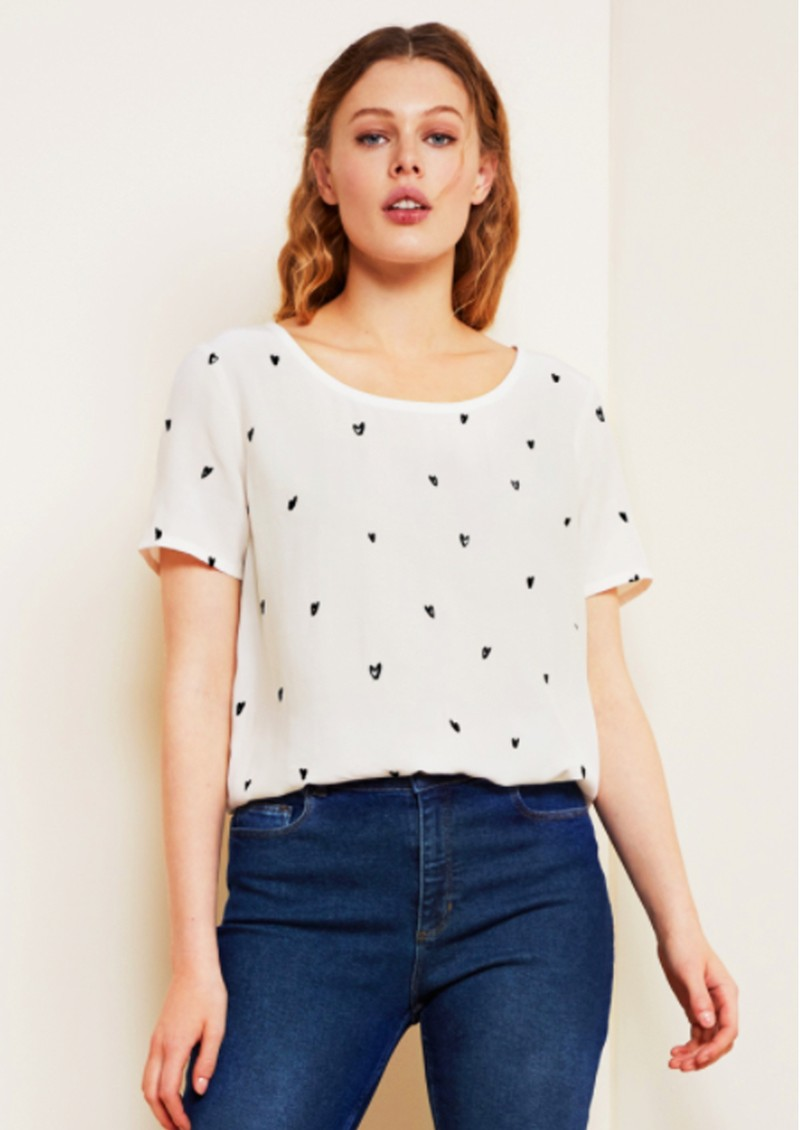 FABIENNE CHAPOT Doris Embroidered Top - Off White Lovely Love main image