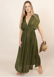 NOOKI Bora Lagoon Maxi Dress - Khaki