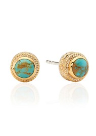 ANNA BECK Solstice Turquoise Stud Earrings - Gold