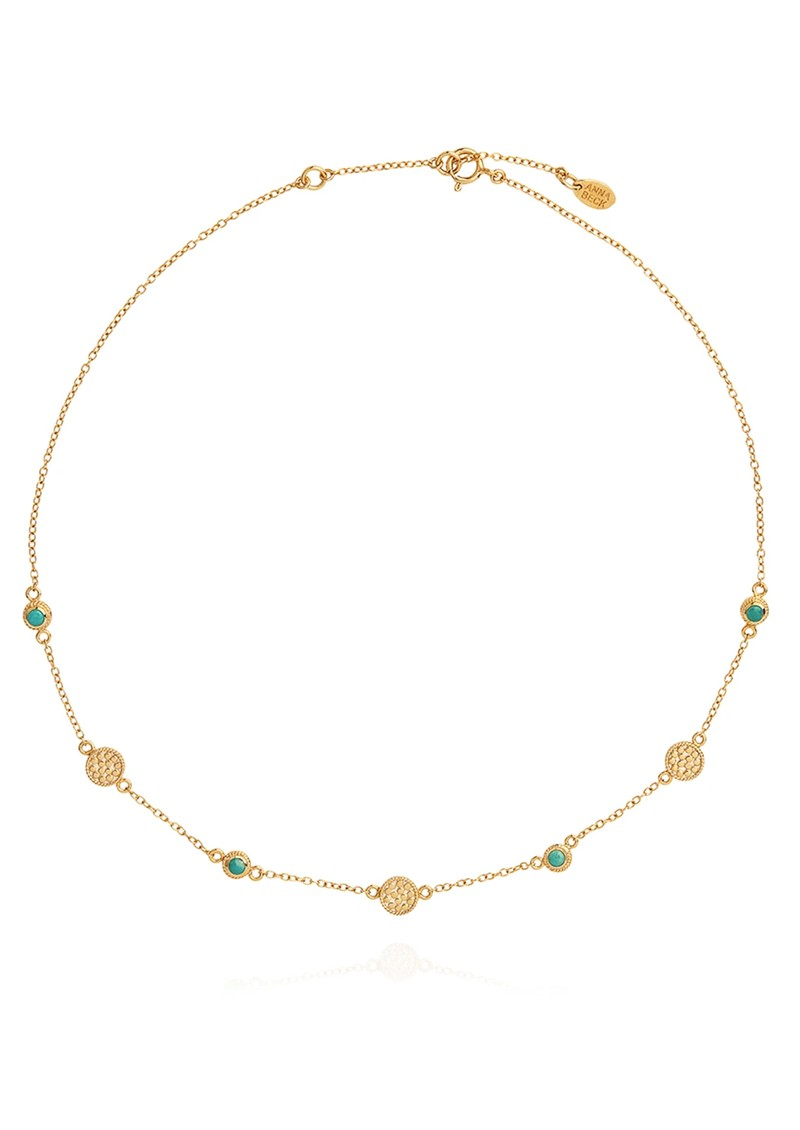 ANNA BECK Solstice Turquoise Multi Station Necklace - Gold main image