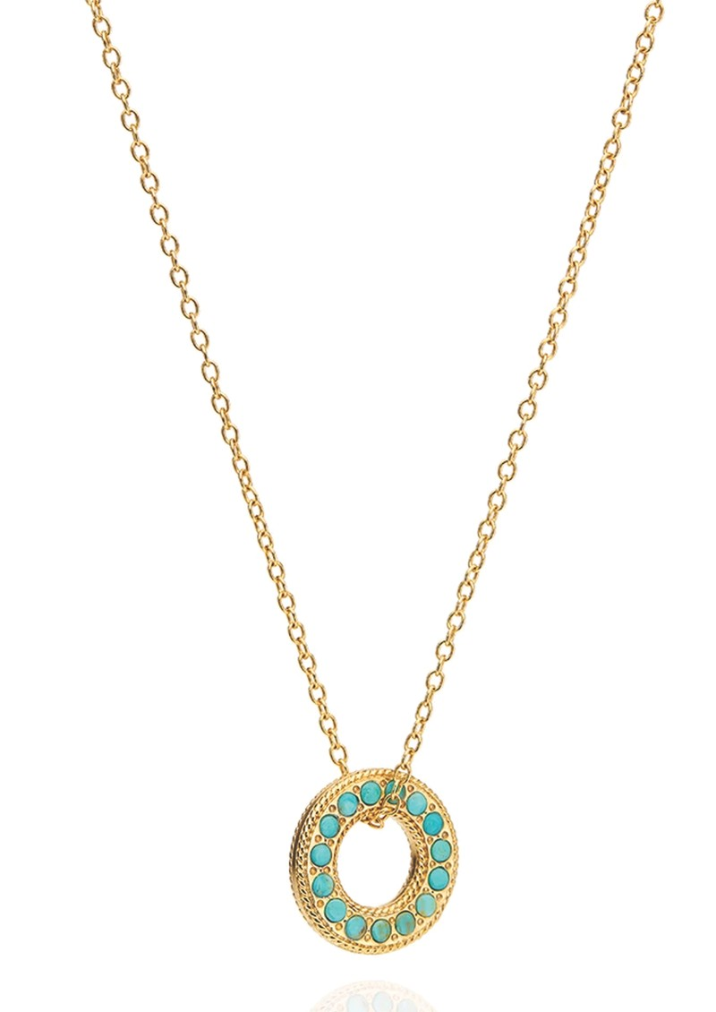 ANNA BECK Solstice Reversible Flat Open Circle Necklace - Gold main image
