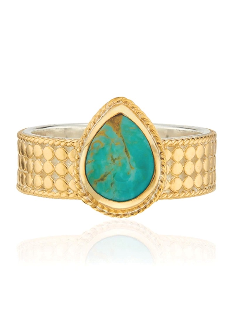 ANNA BECK Solstice Turquoise Drop Ring - Gold main image
