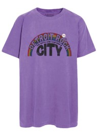 NEWTONE Trucker Detroit T-Shirt - Purple