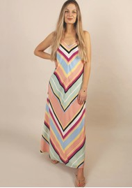 NOOKI Rainbow Stripe Bias Dress - Multi