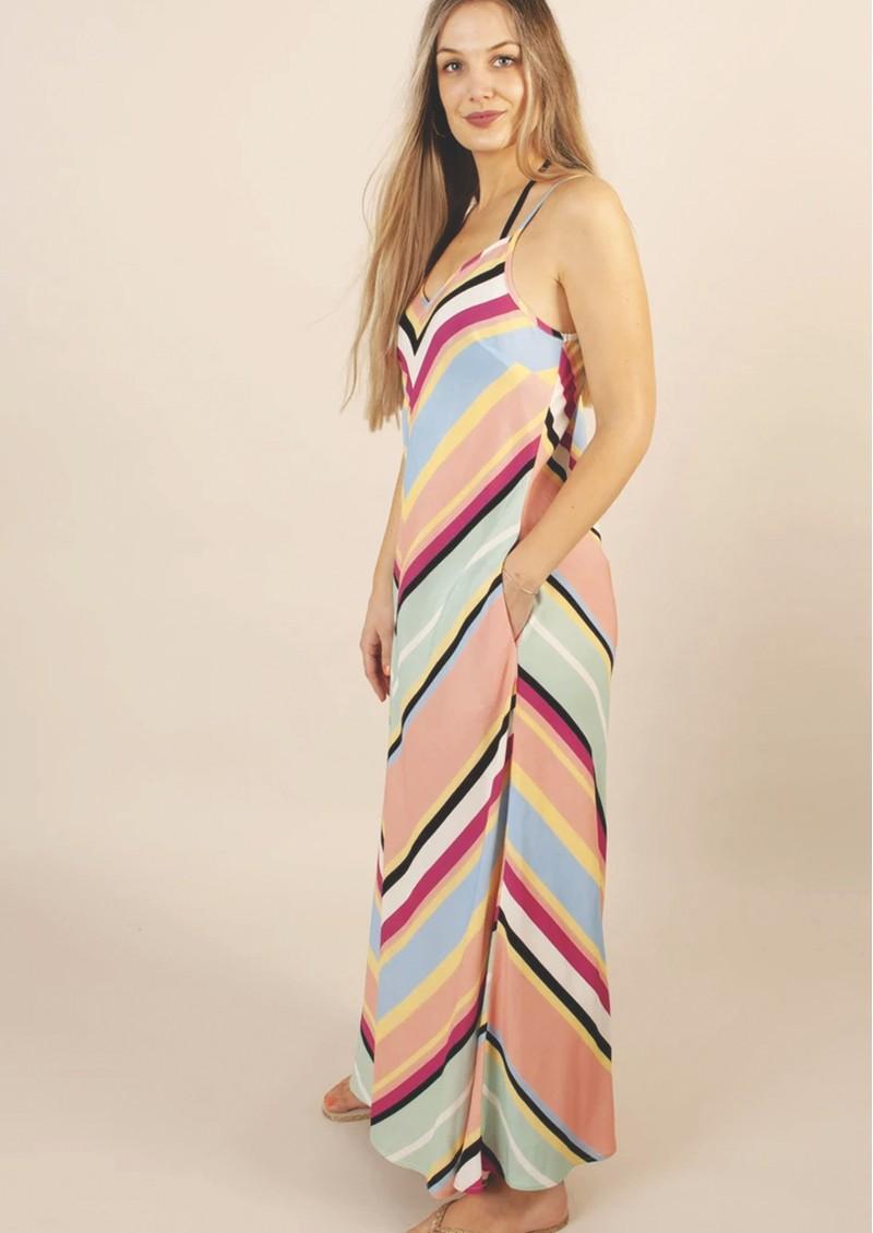 NOOKI Rainbow Stripe Bias Dress - Multi main image