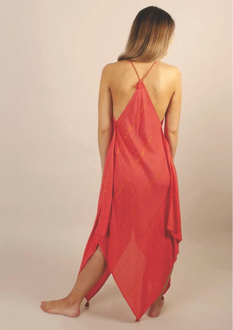 NOOKI Larna Dress - Coral main image