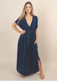 NOOKI Bora Lagoon Maxi Dress - Navy