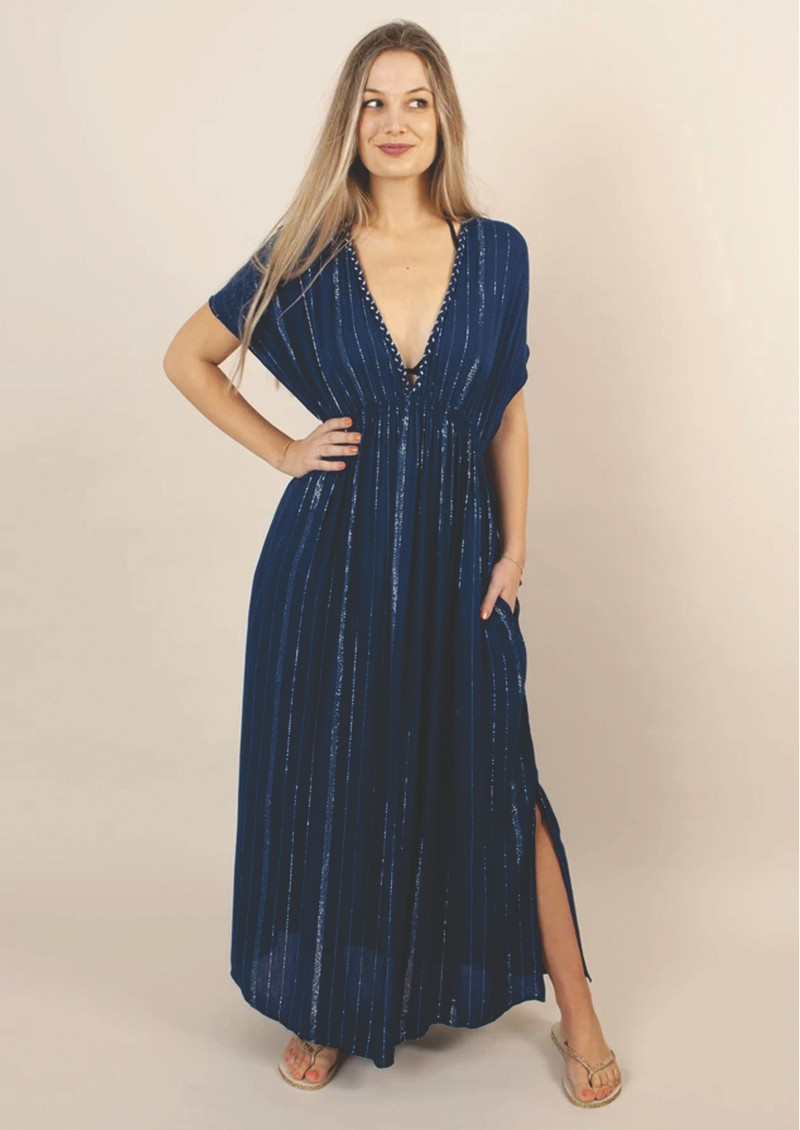 NOOKI Bora Lagoon Maxi Dress - Navy main image