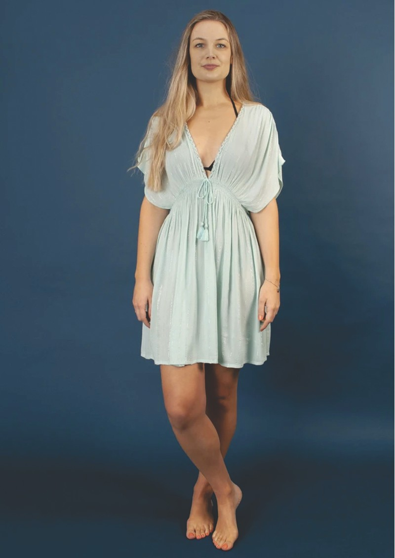 NOOKI Tahiti Lagoon Dress - Duck Egg main image