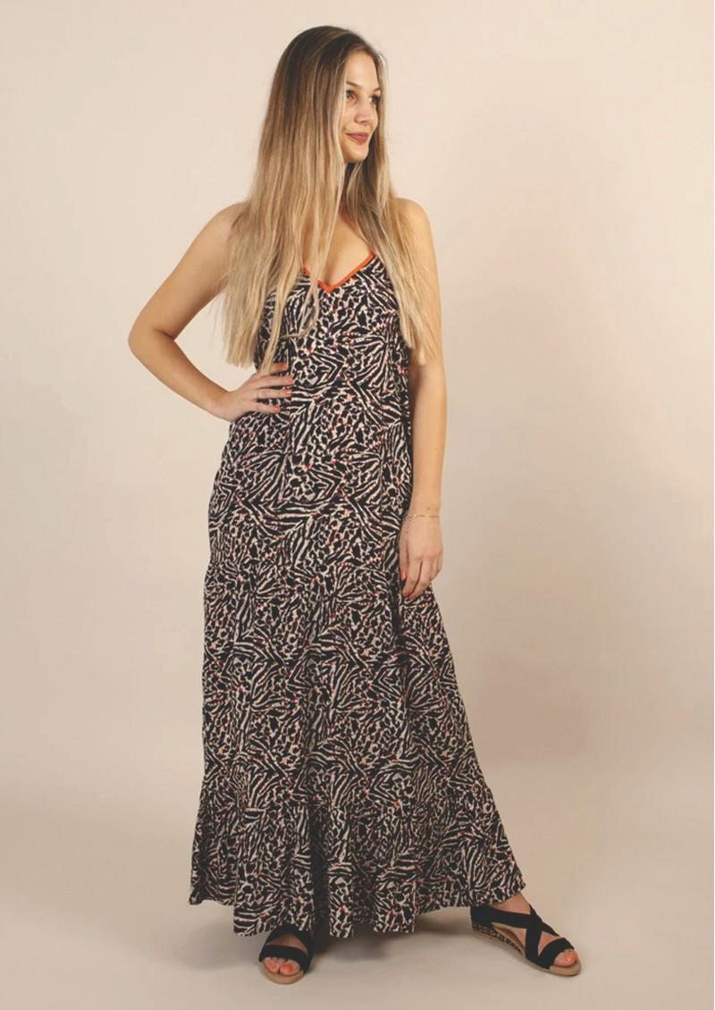 NOOKI Halter Maxi Dress - Zebra main image