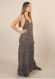 NOOKI Halter Maxi Dress - Zebra