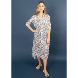 Coco Shirt Dress - Navy Palm
