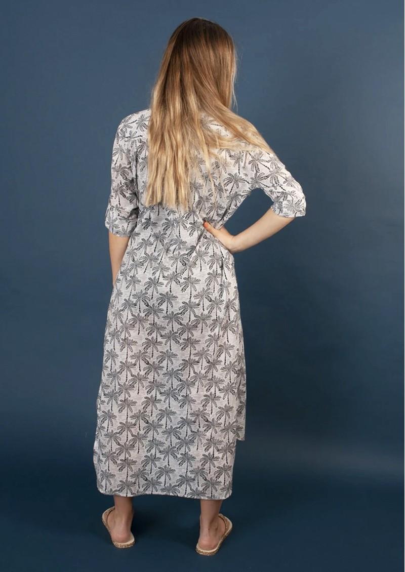 NOOKI Coco Shirt Dress - Navy Palm main image