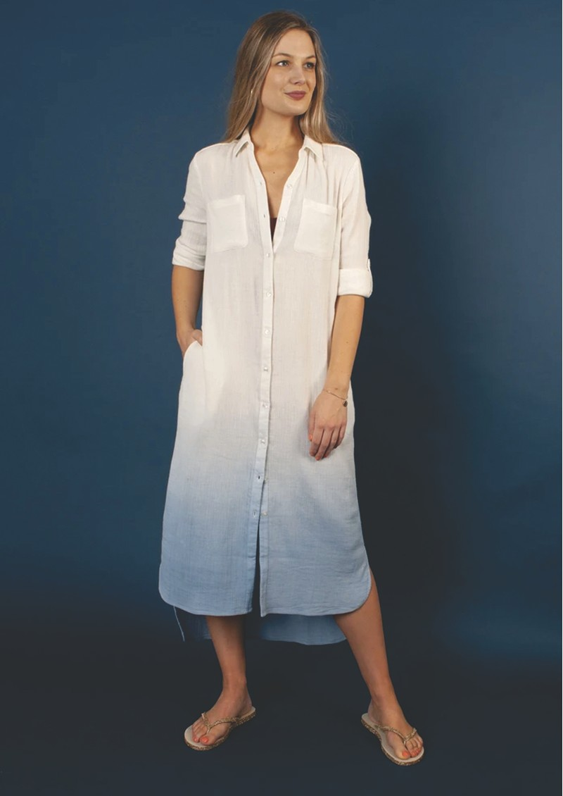 NOOKI Brooklyn Shirt Dress - Blue Mix main image