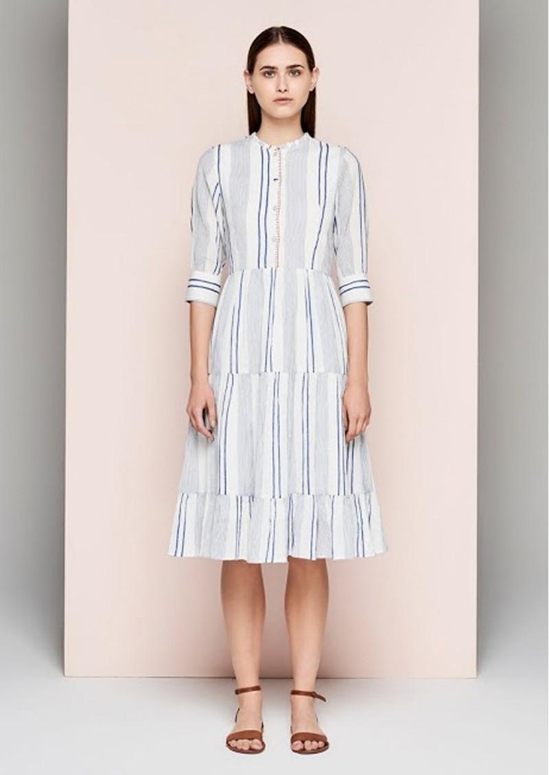 DREAM Striped Dress - Blue & White main image