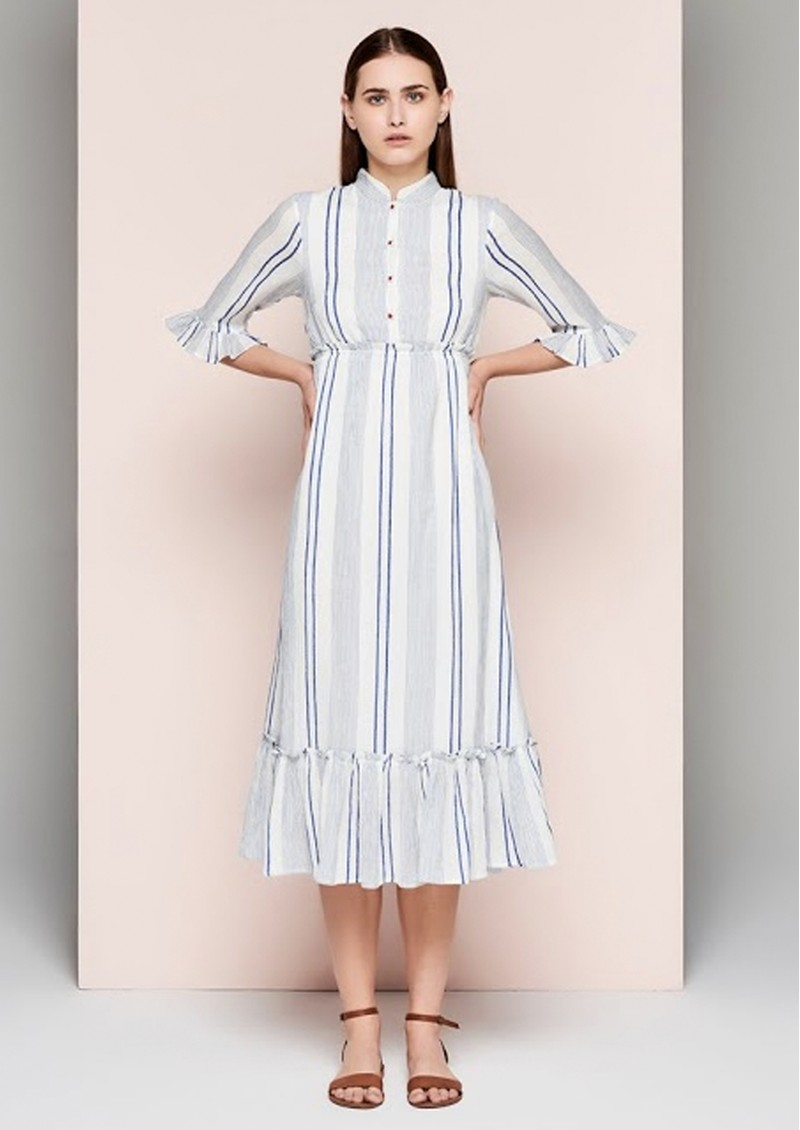 DREAM Stripe Dress - Blue & White main image