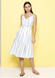 DREAM Striped Cotton Dress - Blue & White