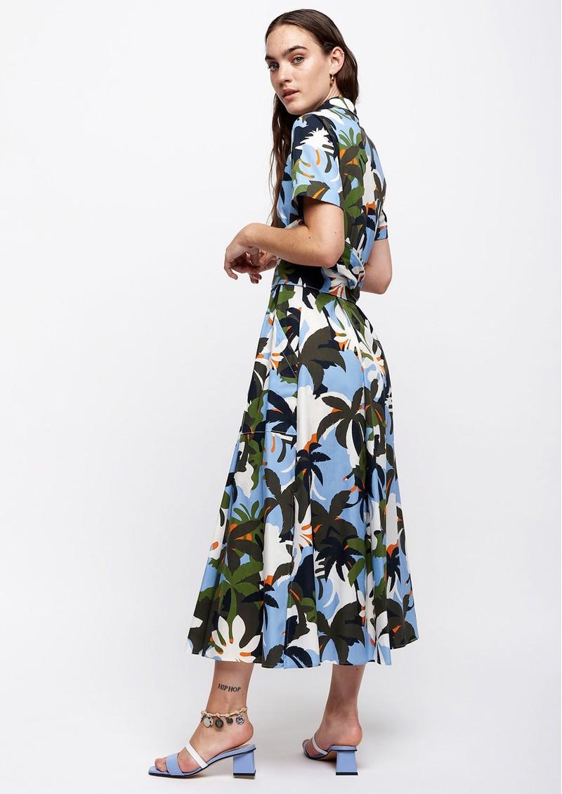 SFIZIO Tropical Midi Shirt Dress - Jungle main image