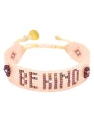 MISHKY Be Kind Beaded Bracelet - Nude