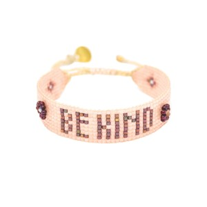 Be Kind Beaded Bracelet - Nude