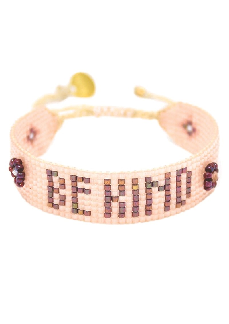 MISHKY Be Kind Beaded Bracelet - Nude main image