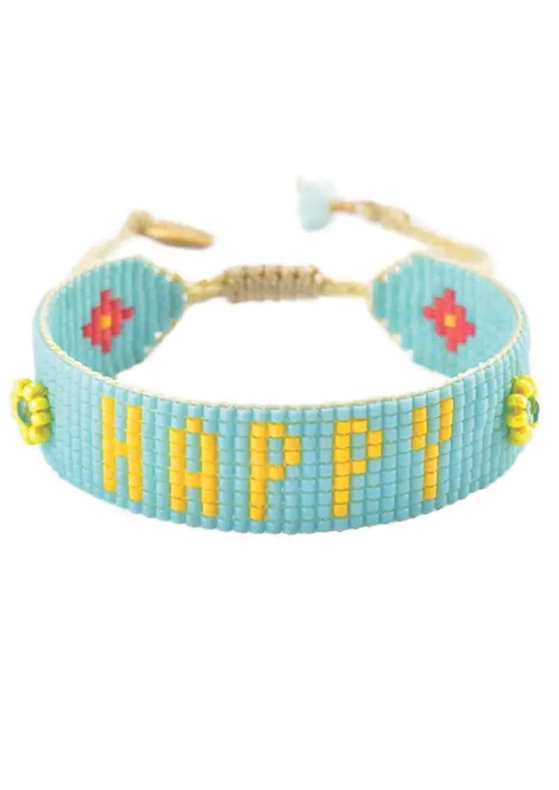 MISHKY Be Happy Beaded Bracelet - Turquoise main image