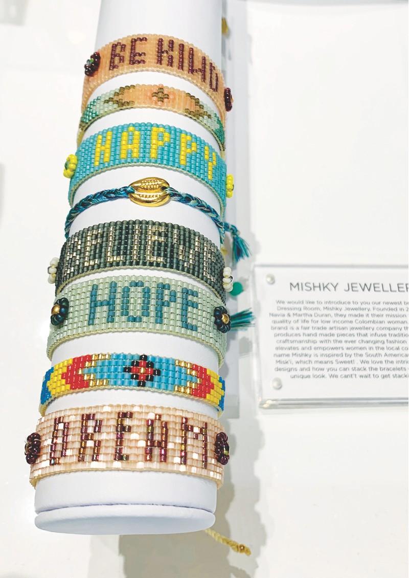 MISHKY Hope Beaded Bracelet - Mint main image