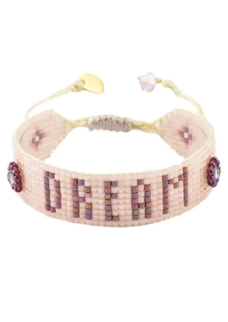 MISHKY Dream Beaded Bracelet - Nude main image