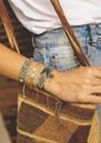 MISHKY Believe Beaded Bracelet - Grey