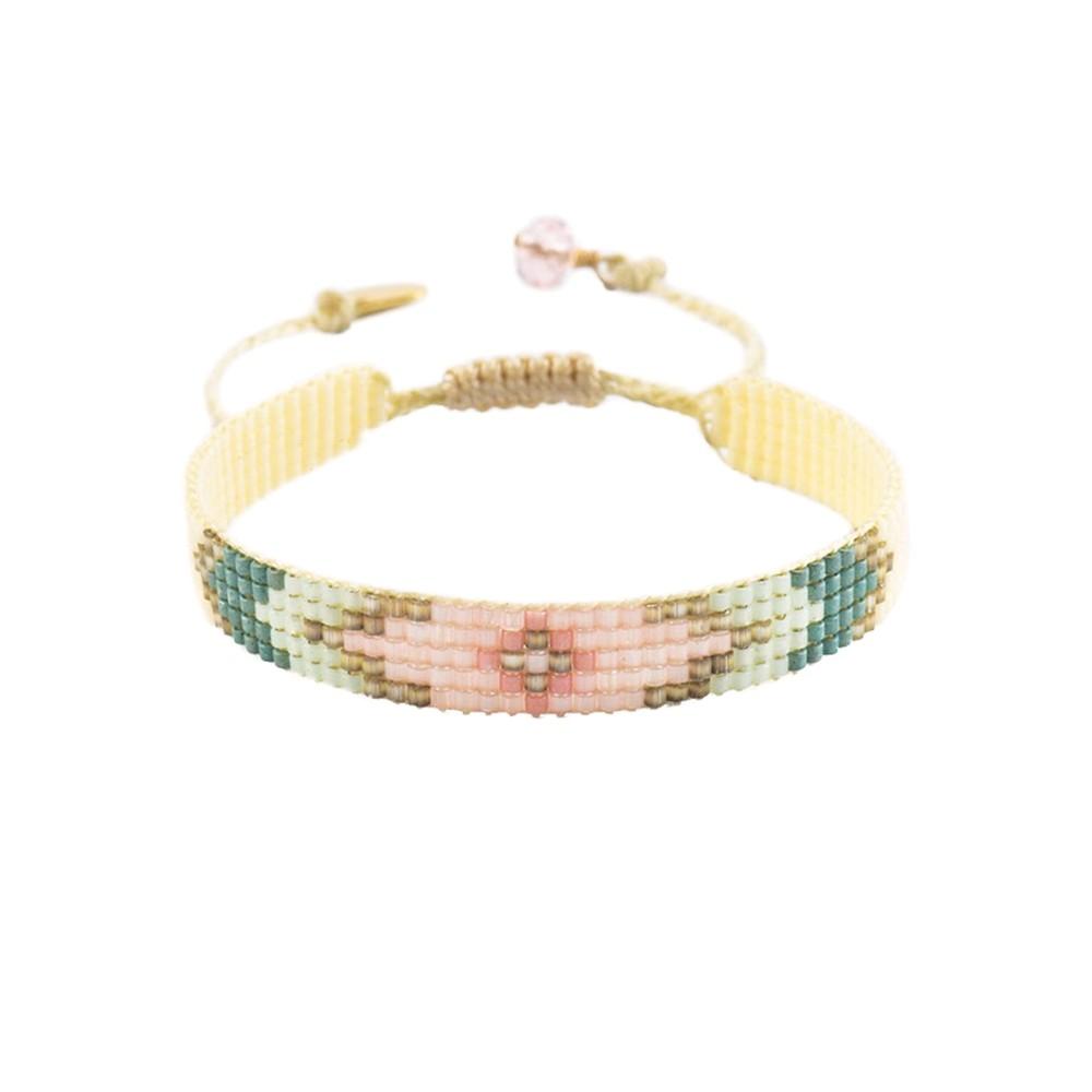 Peeky Narrow Bracelet - Mint & Pink