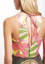 SFIZIO Tropical Long Pleated Dress - Fluro