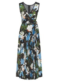 SFIZIO Tropical Long Pleated Dress - Jungle