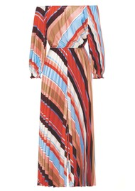 SFIZIO Tutu Pleated Striped Jumpsuit - Multi