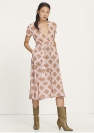 SAMSOE & SAMSOE Klea Midi Wrap Dress - Foulard
