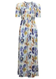 BAUM UND PFERDGARTEN Adamaris Maxi Dress - White Blue Floral