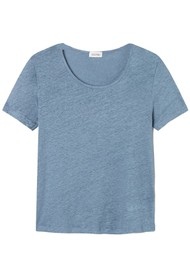 American Vintage Lolosister Linen T-Shirt - Ice