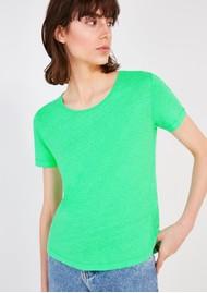 American Vintage Lolosister Linen T-Shirt - Rainette