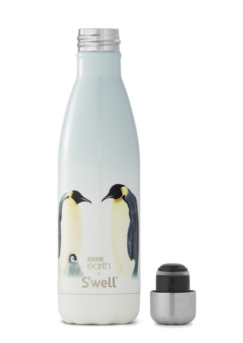 SWELL BBC Earth 17oz Water Bottle - Emperor Penguins main image